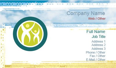Water Color Family Business Card Template